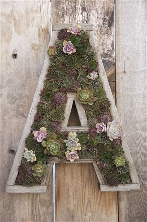 Succulent Letter Planter by Large Letter Planter Planted Unplanted Kit Planters