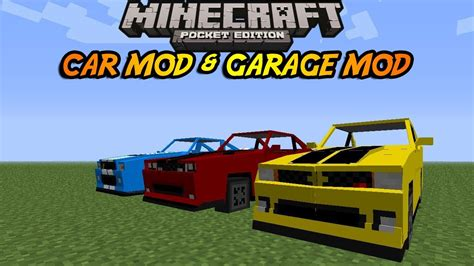 minecraft 0 8 1 apk 0 8 1 minecraft pocket edition moving car mod and working garage mod