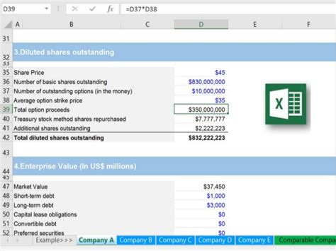 Comparable Company Analysis Excel Template