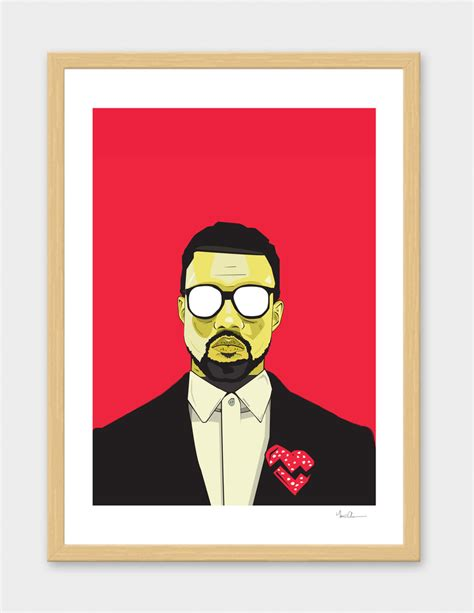 Kayne For Limited Edition At Shopbop by Limited Edition Kanye West Print Slaylebrity