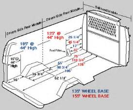 detailed measurements for interior dimensions chevy express savana astro safari and dodge