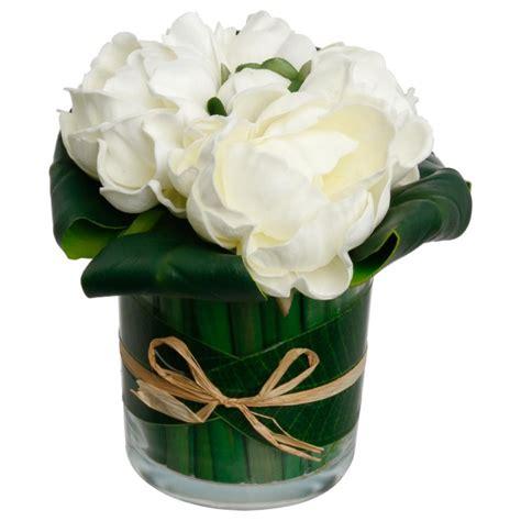 Composition Florale Artificielle by Composition Florale Quot 3 Pivoines Quot 20cm Blanc