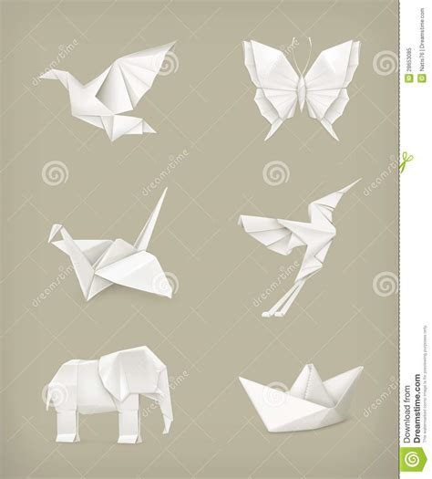 Origami White - origami set white royalty free stock photo image 28653085