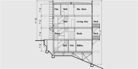 modern duplex floor plans modern town house plans duplex house plans sloping lot plans