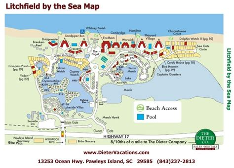 sea resort map pawleys island and litchfield maps pawleys island