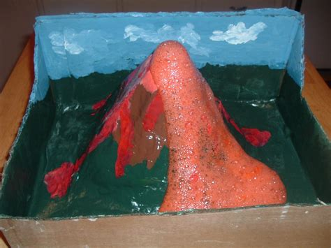 How Do You Make A Paper Mache Volcano - make an erupting volcano project how things work