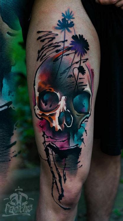 colorful skull tattoos colorful skull inkstylemag