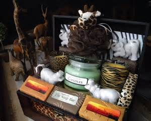 themed gifts safari gift basket soap and candles zoo theme gift