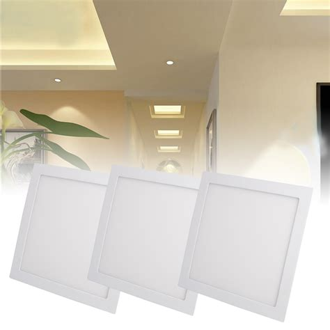 flat ceiling light covers 12w recessed led ceiling panel light flat panel downlight