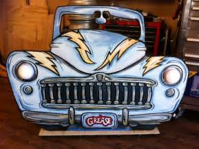 Grease Lightning Car Drawing A Car Shape Cutout We Painted For A Stage Prop Grease