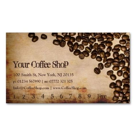 coffee business card template free 67 best images about customer loyalty business cards on loyalty business card