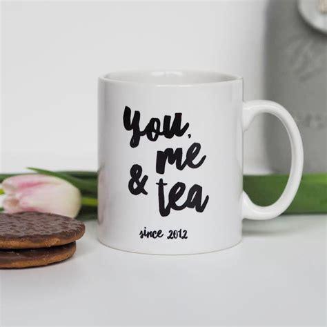 you me and tea mug personalised mug valentine s gift