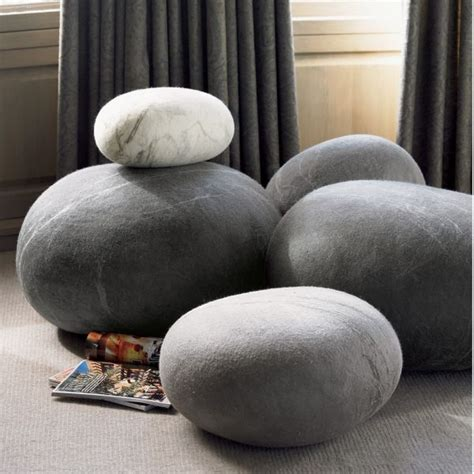 Soft Rocks Pillows by Oversized Floor Cushions Made Of Wool