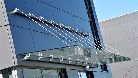 glass awnings canopies glass canopy skanfix