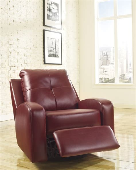 ashley furniture swivel recliner 2140261 ashley furniture mannix durablend red swivel