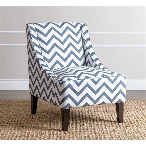Chevron Accent Chair Carlton Chevron Print Fabric Accent Chair In Blue Br C72 Bluchev