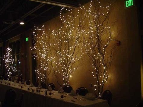 lit branches decorations lighted branches allison s wedding