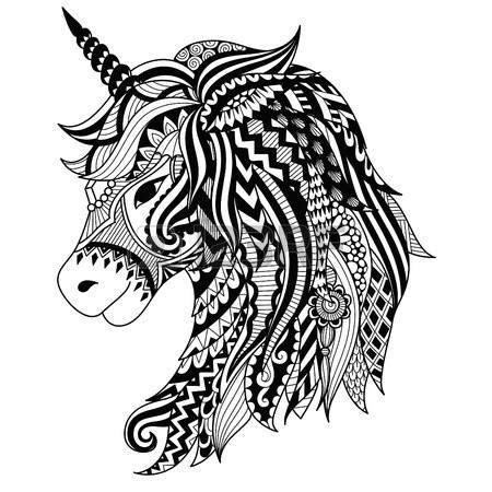 unicornios mandalas y zentangles con pegasus para