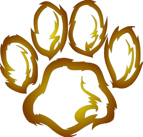 lion print pin lion paw prints on pinterest