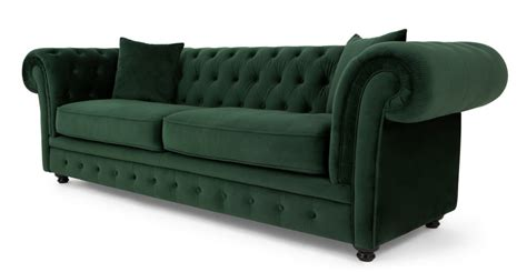 green chesterfield sofa branagh 3 seater chesterfield sofa pine green velvet