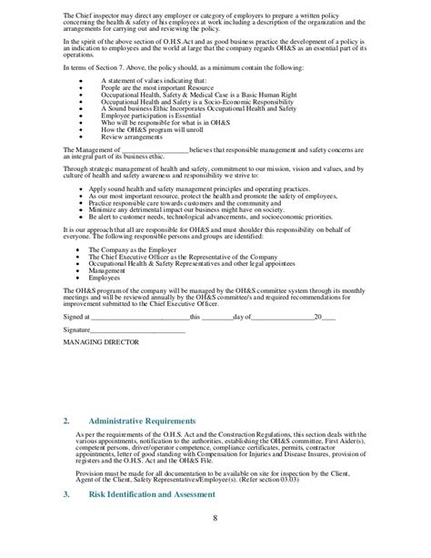 occupational health appointment letter template health and safety plan generic