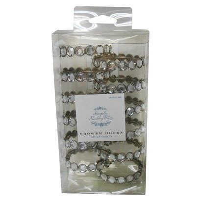 target simply shabby chic clear rhinestone shower hooks