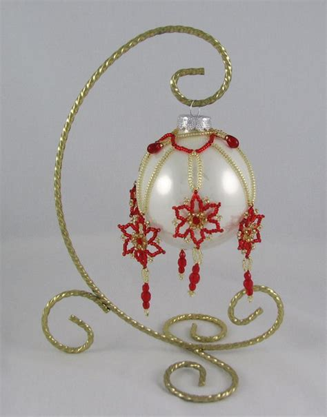 beaded ornaments patterns beaded covers flora ornament