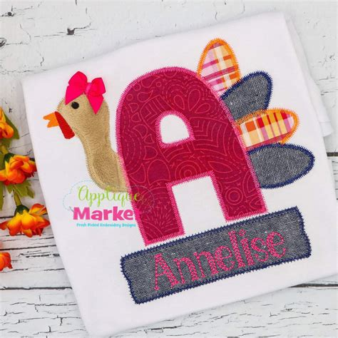 applique zig zag turkey applique alphabet zig zag