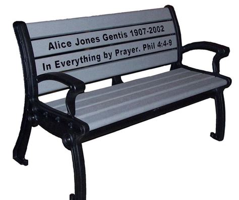 memorial benches prices park bench prices emerald park memorial bench occ