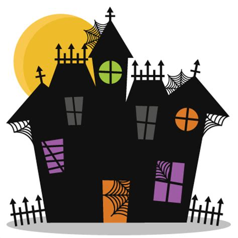Haunted House Clipart by Haunted House Svg Cutting Files Bat Svg Cut File
