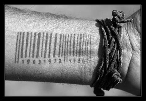 human barcode tattoo meaning music rusche