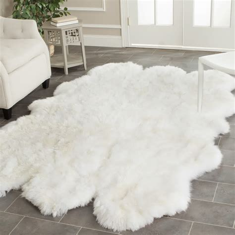 white accent rug fluffy white rug a small floor feature for ultimate