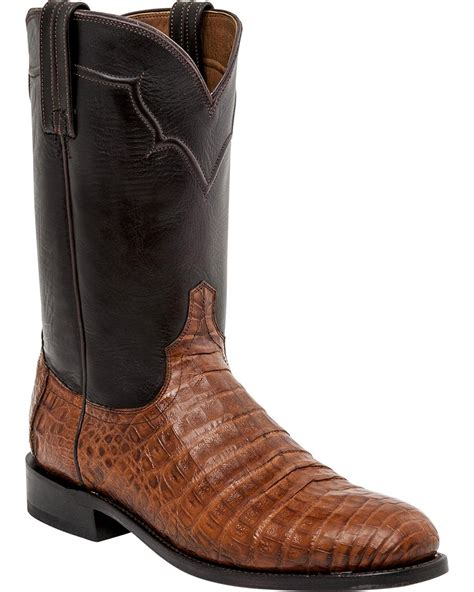 round belly boat lucchese men s dustin belly caiman roper boot round toe