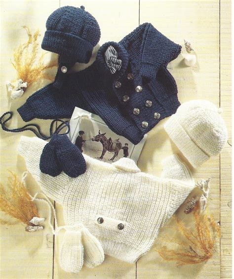 dk baby knitting patterns free baby knitting pattern dk jacket hat mitts 16 22 quot