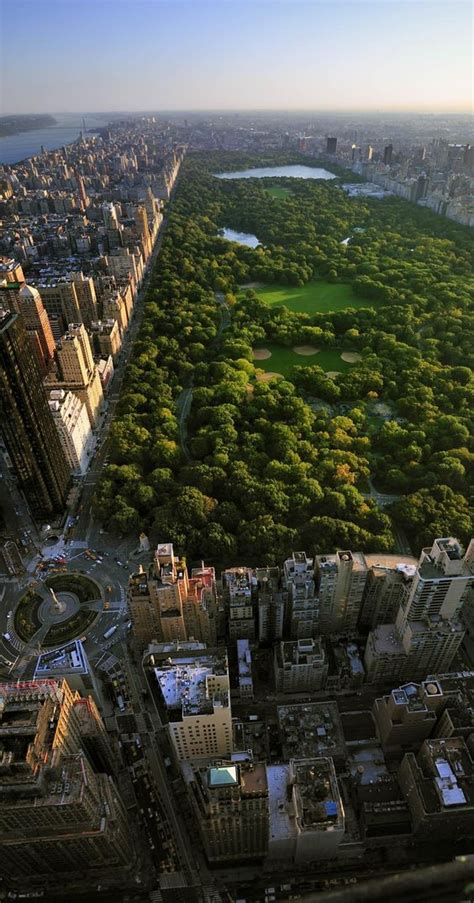 aerial view of central park and columbus circle manhattan