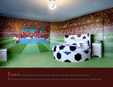 football bedroom football themed room mural by oneredshoe co uk cheshire