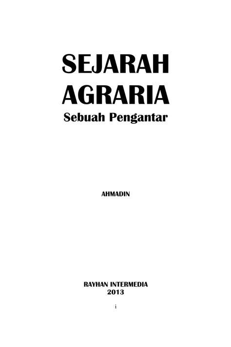 (PDF) SEJARAH AGRARIA Sebuah Pengantar