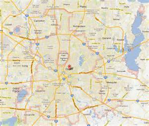 map for dallas america maps map pictures