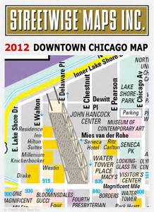 Street Map Of Downtown Chicago by Streetwise 174 Maps