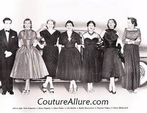 Fashion designers from the 1950s and we love to drool over the clothes