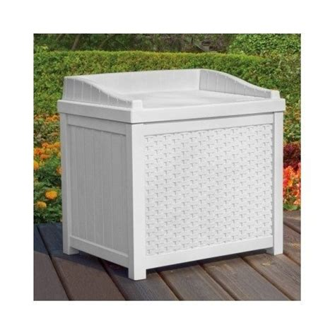 outdoor bench box white wicker deck seat storage box outdoor storage bench