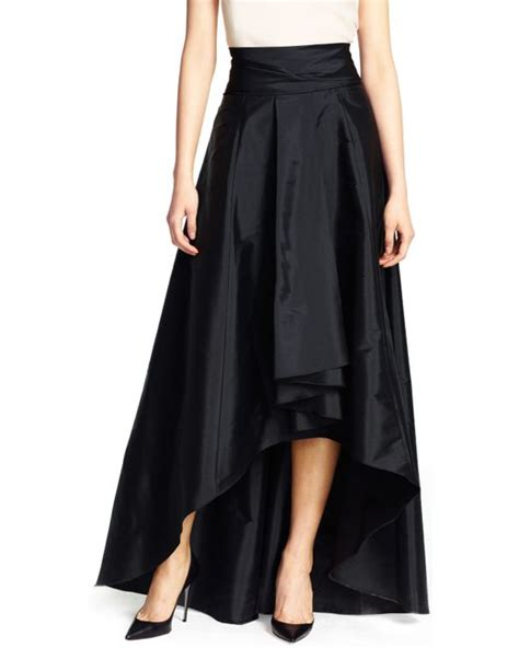 papell high low skirt in black lyst