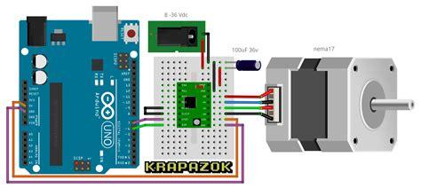 arduino code drv8825 stepper motor controller using leonardo pro micro
