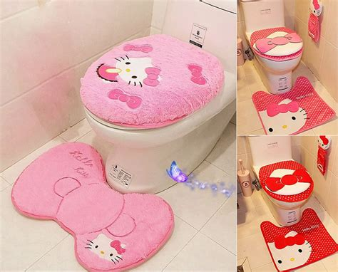hello kitty bathroom accessories hello kitty toilet seat cover cushion and rug bathroom mat