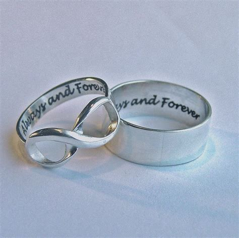 his and infinity rings his and hers jewelry infinity ring set always forever