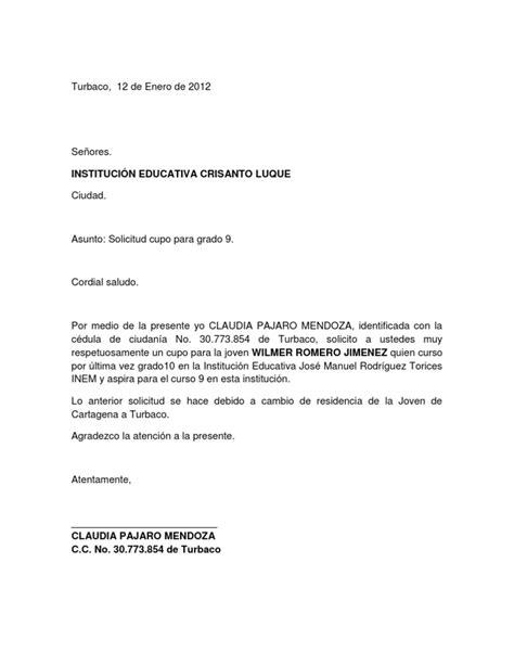 carta de retiro de jardin infantil carta solicitud cupo academico