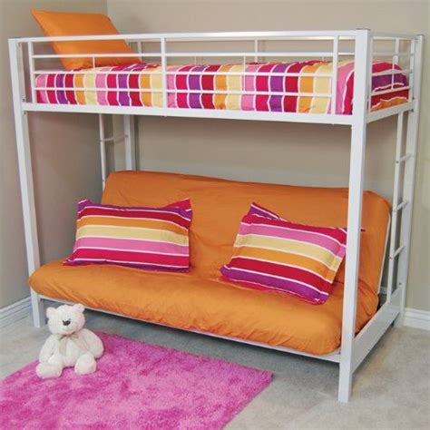 white metal bunk bed with futon futon bunk beds for adults with metal construction