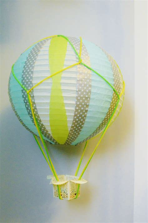 How To Make Paper Air Balloon Lantern - diy miniature air balloonsloving here