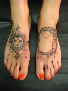 sun and moon foot tattoos tattoo shortlist