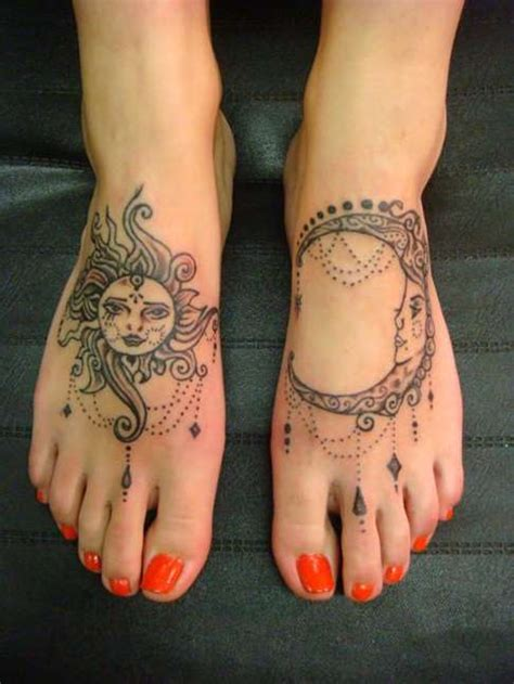 sun and moon foot tattoos shortlist